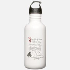 Ancient greyhound text Water Bottle