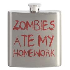 Zombies Ate My Homework Flask