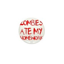 Zombies Ate My Homework Mini Button