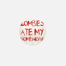 Zombies Ate My Homework Mini Button