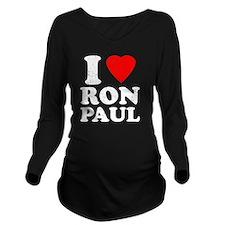 I Heart Ron Paul Long Sleeve Maternity T-Shirt