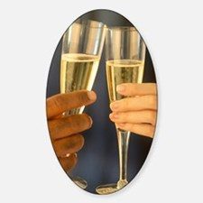 Champagne Hands Decal