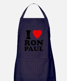I Heart Ron Paul Apron (dark)