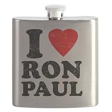 I Heart Ron Paul Flask