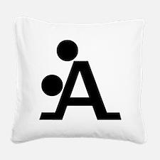 Black A Square Canvas Pillow