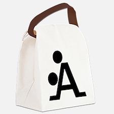 Black A Canvas Lunch Bag