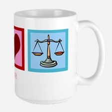 Peace Love Law Mug