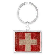 Vintage Switzerland Landscape Keychain