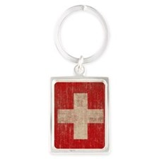 Vintage Switzerland Portrait Keychain