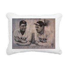 Babe Ruth  Lou Gherig Rectangular Canvas Pillow