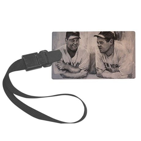 Babe Ruth Lou Gherig Large Luggage Tag