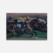 The Horse Race Rectangle Magnet