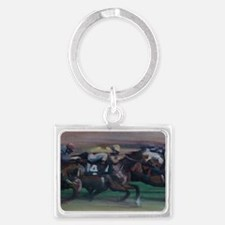 The Horse Race Landscape Keychain