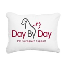 Day By Day Pet Caregiver Rectangular Canvas Pillow