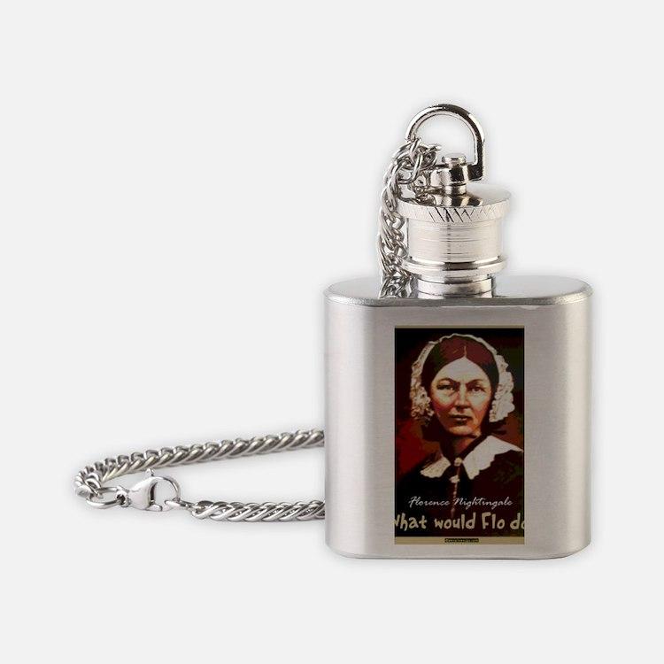 What Would Flo Do Nurse Shoulder Ba Flask Necklace