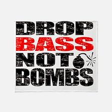 Drop Bass Not Bombs Throw Blanket