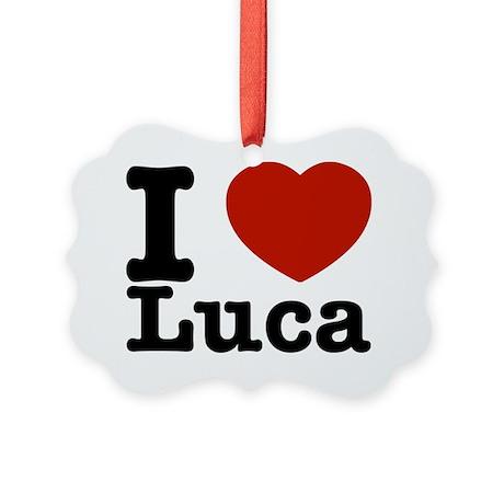 I Love Luca Picture Ornament