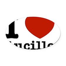 I Love Lucille Oval Car Magnet