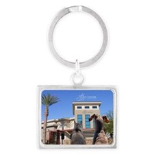 Town Center Animal Hospital Landscape Keychain