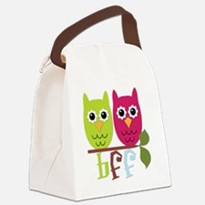 BFF Best Friends Forever Owls Canvas Lunch Bag