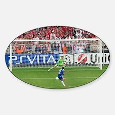 Drogba penalty Champions League Fin Sticker (Oval)