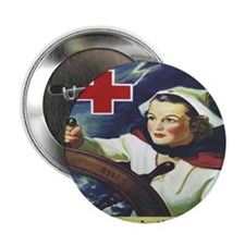 """Nurse at the Helm 2.25"""" Button"""