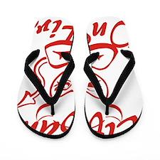 Tiffany On Fire Flip Flops