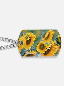 Sunflowers Dog Tags