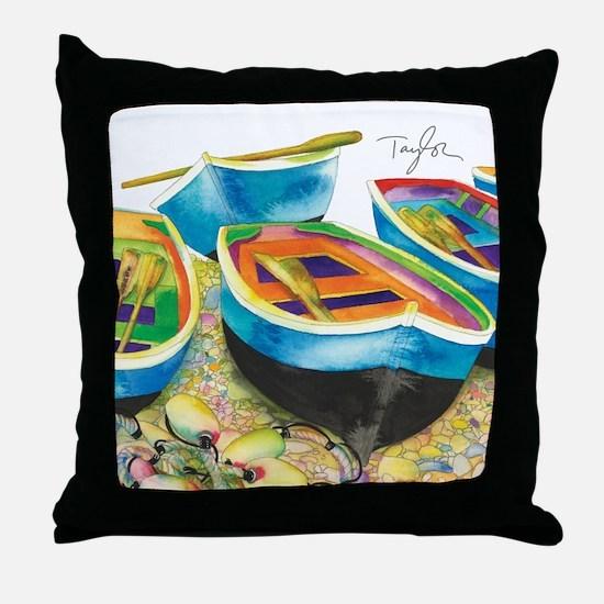 Row Row Throw Pillow