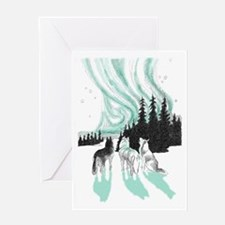 Siberian aurora Greeting Card