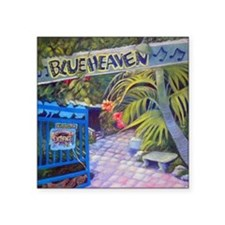 "Blue Heaven New View framed Square Sticker 3"" x 3"""