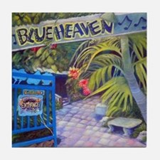 Blue Heaven New View framed print Tile Coaster