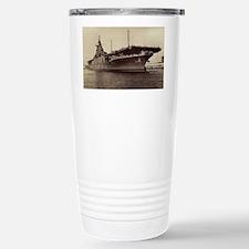 uss lake champlain cv framed pa Travel Mug