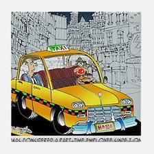 Reindeer Cabbie Tile Coaster
