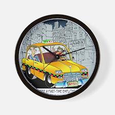 Reindeer Cabbie Wall Clock