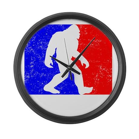Major League Squatchin Large Wall Clock