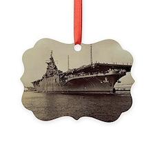 uss lake champlain cv large frame Ornament