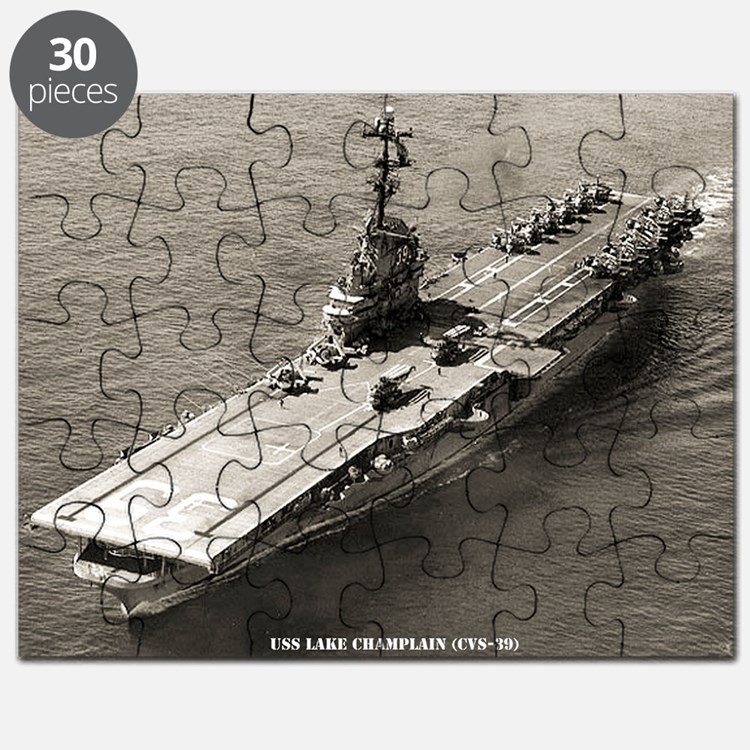 uss lake champlain cvs large framed print Puzzle