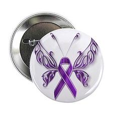 """Epilepsy Butterfly 2.25"""" Button"""