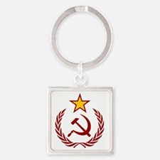 HAMMER SICLE  THE STAR Square Keychain