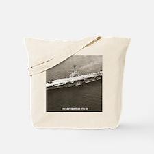 uss lake champlain cva framed panel print Tote Bag