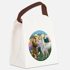 Saint Francis with Llama Mama & B Canvas Lunch Bag