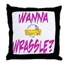 World Wide Wrestling Ladies Night Shi Throw Pillow