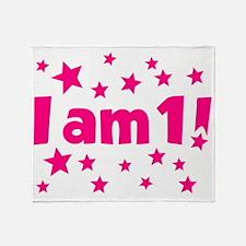 I am 1! Throw Blanket