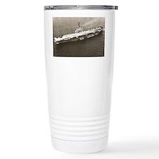 uss lake champlain large framed Travel Mug