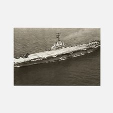 uss lake champlain large framed p Rectangle Magnet