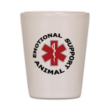 Emotional Support Animal Button Shot Glass