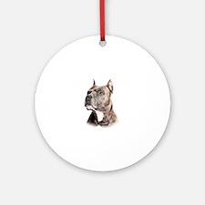 Mans Best Friend Round Ornament