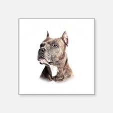 "Mans Best Friend Square Sticker 3"" x 3"""