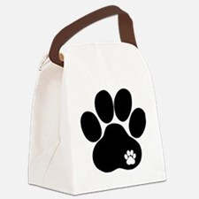 Double Paw Print Canvas Lunch Bag
